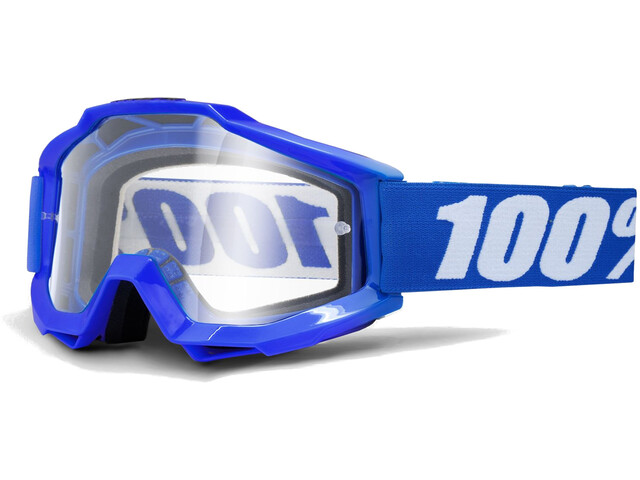 100% Accuri OTG Anti Fog Clear Goggles reflex blue
